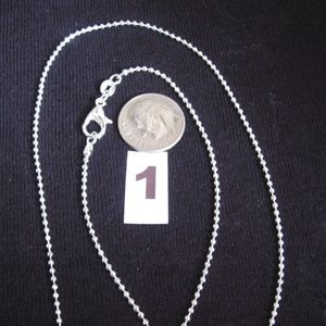 "Jewelry - NEW Sterling Silver Cut Ball Neck Chain 18"" USA"